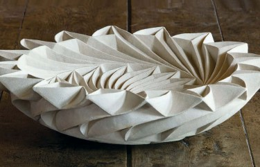 Halima Cassell 'R.E.M.' 2006, hand-carved unglazed clay, diam. 45.7 x 18 cm