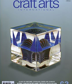Cover: Antoine Leperlier (France), 'L'Instant Juste Avant XIII', 2003, cast glass and lost-wax technique, 19 x 20 x 20 cm. Refer to page 26.