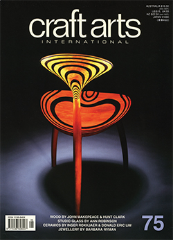 Cover: JOHN MAKEPEACE (UK), 'Trine', 1992, chair with alternate layers of yew and 5,000 year-old bog oak. Refer pp 44-47