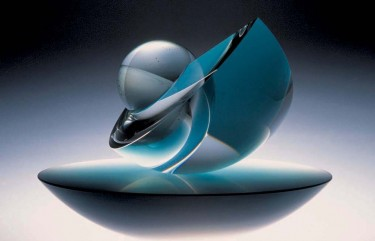 'Coriolis', 2008, kiln-cast glass and optical glass, diam. 25 cm PHOTO:  ESTER SEGARRA